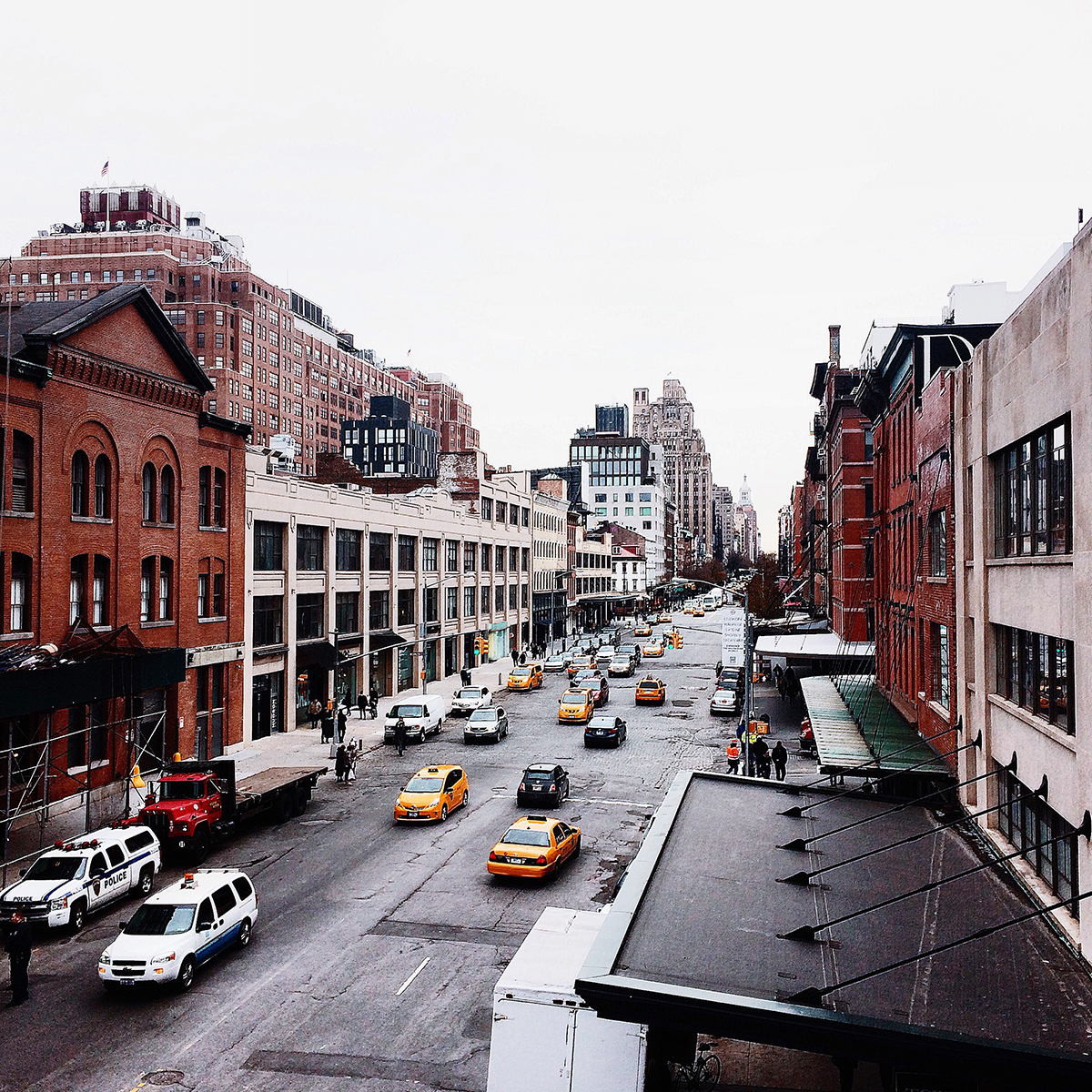 ragnhild utne, utnephoto, chelsea, new york, manhattan, meatpacking district, the high line, street, taxis, city