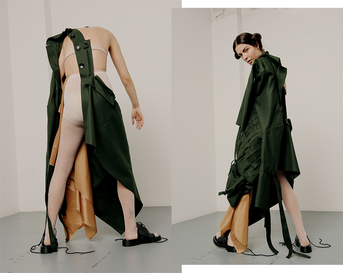 Collaboration with Fashion Designer Andrija Sala-Christopher, shooting her graduate collection at RMIT University. Photographic series published on Coeval Magazine.