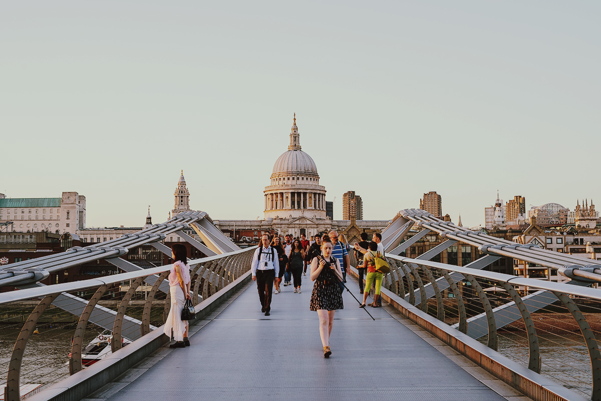 Millennium Bridge London St Paul's Cathedral England United Kingdom Thames River